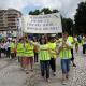 200 elevi din Târgovişte au participat azi la Marşul indicatoarelor rutiere